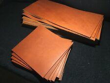 English Copper Oil Tanned Leather Piece Premium Soft Pre Cut Sheet 4.5 / 5.5 oz