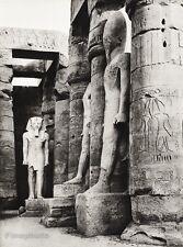 1934 Vintage 11x14 EGYPT ~ Luxor Temple Ancient Sandstone Photo Art ~ HURLIMANN