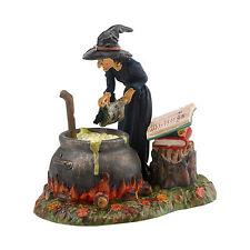 Dept 56 Halloween Snow Village Fire Burn & Cauldron Bubble Witch 4030764 NIB NEW