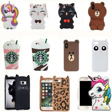 3D Cartoon Silicone Phone Case For iPhone X 5 6 7 8 iPod Touch 5 6 Samsung S8 S9