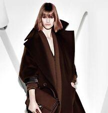 MaxMara Cappotto Donna 46 Marrone Lana Women Oversized Wool Coat MANTEL Manteau