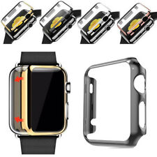 For iWatch 3 Transparent Electroplate Hard PC 38 42mm Screen Protectors Case