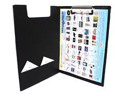 Klemmbrett Schreibplatte mit Innentasche Schreibbrett Bügelklemme A4 schwarz