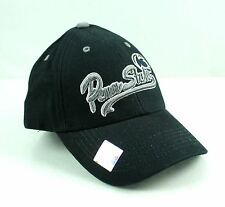 Penn State Nittany LIONS Black Adjustable Hat Cap Silver Series OSFA