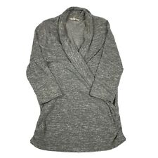 41 Hawthorne Henri Surplice Ruche Sides Knit Top Gray Medium M