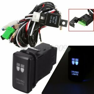 for Toyota 30A Wiring Loom Harness Relay Kit w/ Push Switch LED Spot Light Bar