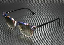 RAY BAN RB3016 125651 Clubmaster Spotted Brown Blue Clear Brown 49 mm Sunglasses