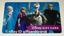 "DISNEY WORLD/STORE GIFT CARD ""FROZEN CHARACTERS"" NO VALUE DISNEYLAND NEW"