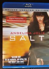 SALT ~ UNRATED Blu-ray Disc ~ Angelina Jolie WHO IS SHE? ACTION GOVERNMENT SPY?