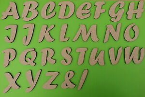 Wooden Letters Large Small Bold 3-30cm (3mm Thick) Craft MDF Laser Cut Character