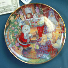 """Franklin Mint """"Not A Creature Was Purring"""" Porcelain Plate by Bill Bell Coa New"""