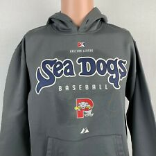 Majestic Portland Sea Dogs Therma Base Hoodie Sweatshirt MILB Boston Red Sox S