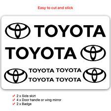 Toyota Car Decal Vinyl Stickers for Corolla Yaris Prius Aygo rav4 chr