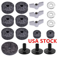 18pcs Drum Cymbal Felt Washers Cymbal Sleeves Wing Nut Accessories Set Kit