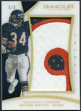 Walter Payton 2015 Panini Immaculate Standard 3-Color Jumbo Numbers 5/5 Patch