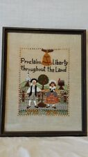 Proclaim Liberty throughout the Land Textile Art Sampler 1776-1976