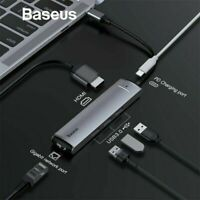 Baseus 6in1 USB C HUB Adapter Typ C to USB 3.0 4K HDMI RJ45 PD für MacBook Pro