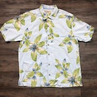 Tommy Bahama Silk Floral Hawaiian Button-Up Shirt Men's Size Medium N30