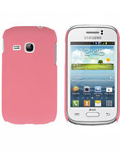 Coque rigide rose pour Samsung Galaxy Young S6310 aspect mat toucher rubber