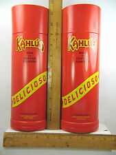 Kahlua Rum and Coffee Liqueur Tin Canisters
