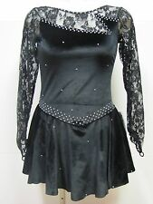 BLACK ICE FIGURE SKATING COMPETITION DRESS LOADED W CRYSTALS AS NWT