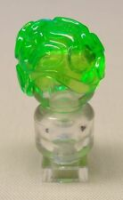 x1 NEW Lego Brain Head Headgear Alien Minifig Parts TRANS BRIGHT GREEN