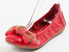 New  Francesco V. Red Bow Leather shoes Flats 35 US 5