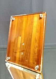 DANISH MID-CENTURY! Lucite and Teak Floating Picture Photo Frame Vintage MCM
