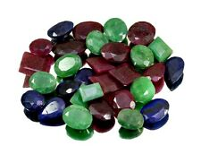 285ct / 30pcs Natural Emerald Sapphire Ruby Ring Size Gemstone Wholesale Lot