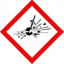 12x GHS 01 Aufkleber explosionsgefährlich 10x10cm
