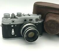 Vintage Rangefinder Camera Zorki 2С Industar 61 Lens F2.8 52mm Russian USSR Rare