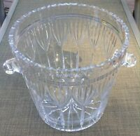 24% Lead Crystal Ice Bucket ~ Large Oversized Bowl Punch ~ 9 1/2 Inches ~ POLAND