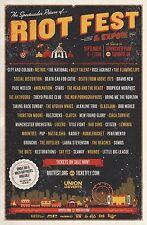 RIOT FEST 2014 TORONTO CONCERT POSTER:City And Colour,Metric,Rise Against,Clutch