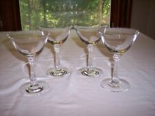 Set of 4 Fostoria Sceptre Clear Tall Sherbets/Champagnes, Stem 6017
