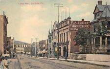 LONG AVENUE DUBOIS PENNSYLVANIA FURNITURE STORE POSTCARD (c. 1910)
