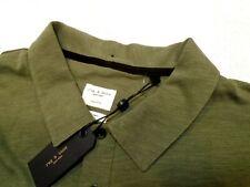 rag & bone 100% Cotton Olive Green Short Sleeve Polo Shirt NWT XXL $125