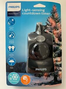 Philips Dusk to Dawn Countdown Timer Outdoor 8/6/4/2hr 2 Outlet Christmas B4
