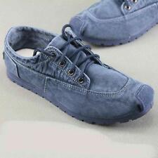 Denim Loafers Breathable Lace Up Mens Sneakers comfort  Driving Fashion Shoes sz
