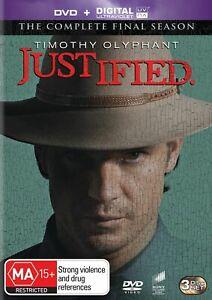 Justified The Complete Final Season Box Set (DVD,Digital UV) Region 4 NEW+SEALED