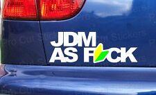 300mm (30cm) Large JDM AS F*CK Vinyl Die Cut Car Window Bumper Sticker Decal