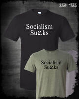 Socialism Sucks T-Shirt Commie Scum Socialist Bernie Funny Libertarian Patriot