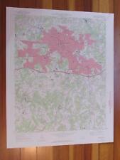 Burlington North Carolina 1972 Original Vintage USGS Topo Map