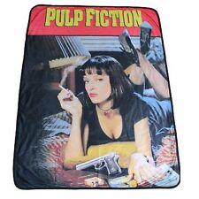 "PULP FICTION Soft Fleece Throw Blanket Large 46"" x 60"" - New - Mia - Uma Thurman"