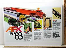 1983 Aurora AFX HO Slot Car Art Work Mans Room TV 4-DESIGN Framed Advertising A+