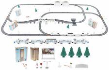 Kinderspielzeug Elektrische Eisenbahn Lok Waggon Schienen Brücke Tunnel Batterie