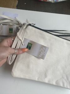 westford mill Zip Bags With Handle - 7 Job Lot - Cotton - Off White/cream