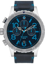 Reloj Hombre NIXON 48/20 A3632219 de Cuero Azul
