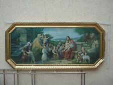 Sehr Großes Heiligenbild Schlafzimmer Jesus Und Kinder Druck Holzrahmen