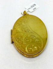 Large gold plated locket