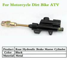 10MM Black Metal Rear Brake Master Cylinder Pump For Motorcycle Dirt Bike ATV